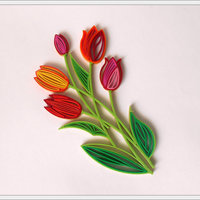 "Small Quilling ""Tulips"". 3D Printing 65299"