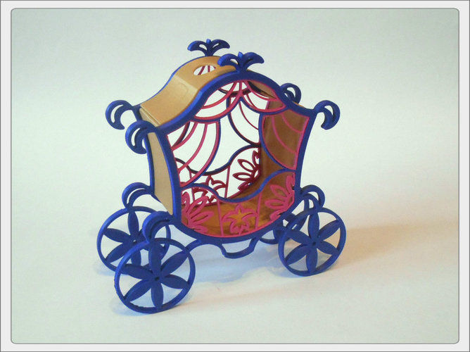 The carriage for Cinderella. 3D Print 65317