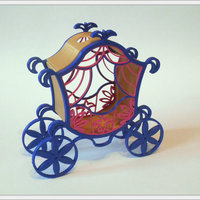 Small The carriage for Cinderella. 3D Printing 65317
