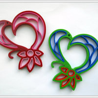 Small Quilling heart. 3D Printing 65326