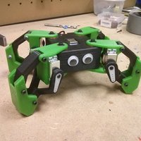 Small Kame: 8DOF small quadruped robot 3D Printing 65374
