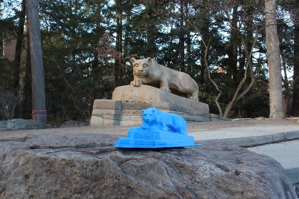 Medium Nittany Lion Statue 3D Printing 65415