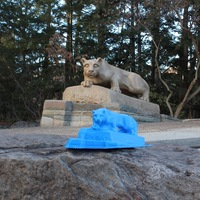 Small Nittany Lion Statue 3D Printing 65415