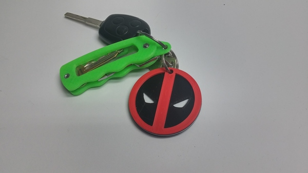 Medium Deadpool Keychain 3D Printing 65536