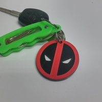 Small Deadpool Keychain 3D Printing 65536