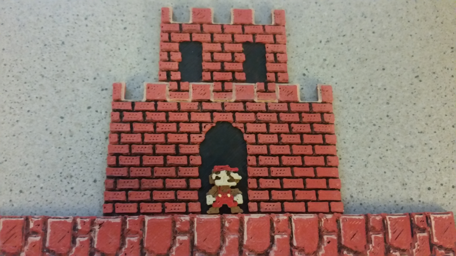 Super Mario Bros World 1-1 3D Print 65543