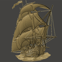 Small Boat-relief 3D Printing 65641