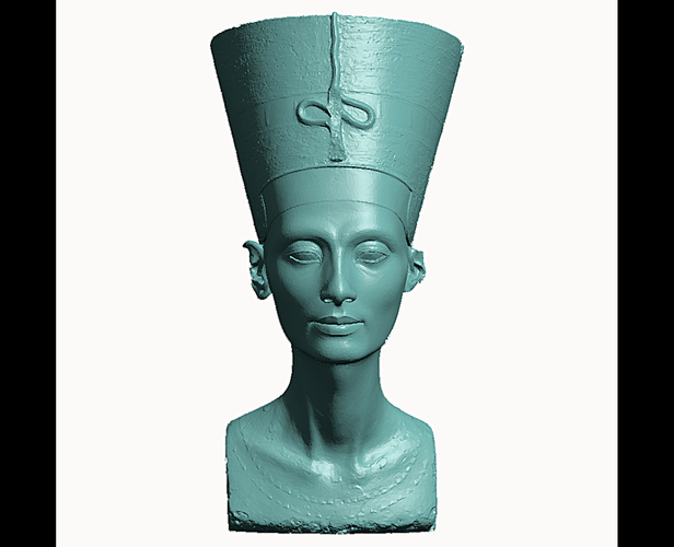 Bust of Nefertiti-Real 3D-SCAN 3D Print 65651
