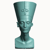 Small Bust of Nefertiti-Real 3D-SCAN 3D Printing 65651