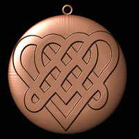 Small Keychain-Celtic_knot_heart 3D Printing 65653