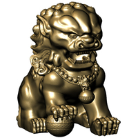 Small Chinese-Lion 3D Printing 65664