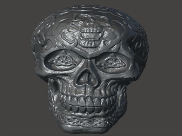 Medium Skull-engraving 3D Printing 65673