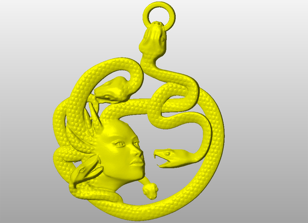 Medium Greek goddess-Medusa-keychain 3D Printing 65685