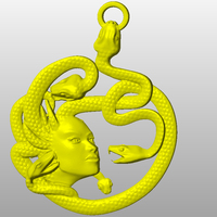Small Greek goddess-Medusa-keychain 3D Printing 65685