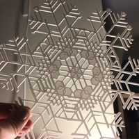 Small Huge Snowflakes - from the Snowflake Machine 3D Printing 65726