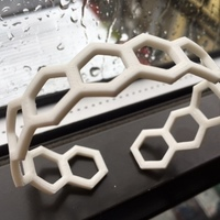 Small Easy Hex Thermoform Bracelet 3D Printing 65784