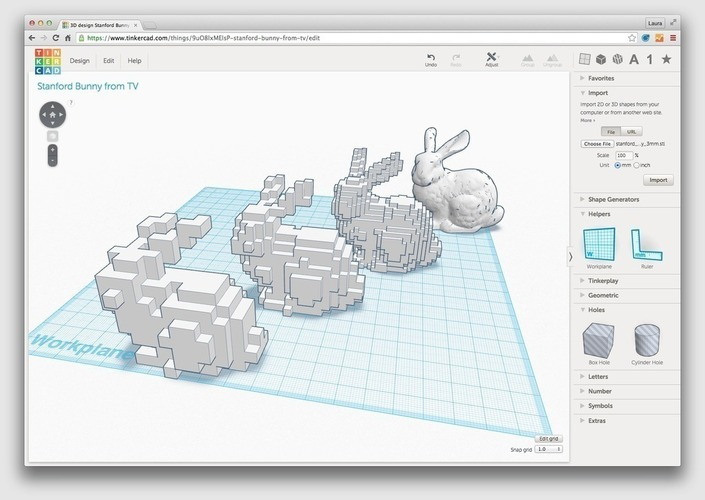 Low-Voxel Stanford Bunny + Voxelization/Minecraft Tutorial 3D Print 65790
