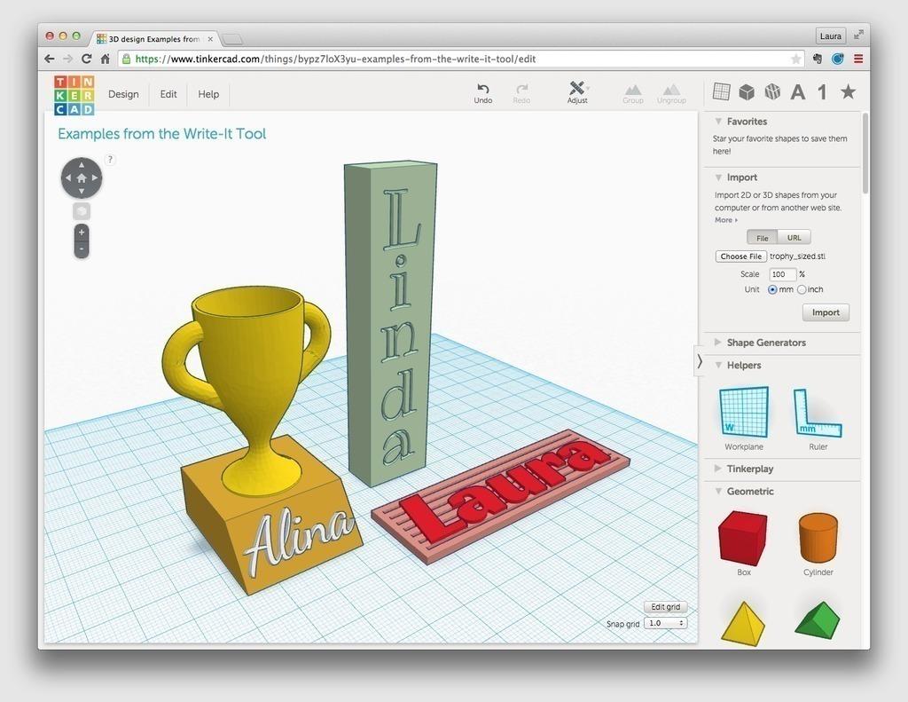 3D Printed Text by mathgrrl | Pinshape