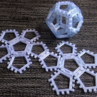 Small Customizable hinge/snap Dodecahedron net 3D Printing 65856
