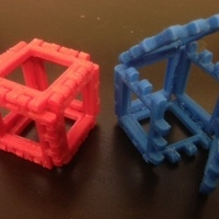 Small Customizable Hinge/Snap Cube Net 3D Printing 65868