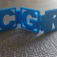 Small Personalizable Hinged Initials 3D Printing 65869