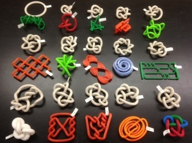 3D-printed Conformations of Knots through 7 Crossings  3D Print 65898