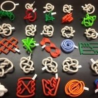 Small 3D-printed Conformations of Knots through 7 Crossings  3D Printing 65898