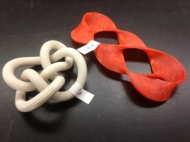 3D-printed Conformations of Knots through 7 Crossings  3D Print 65906