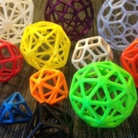 Small Catalan Wireframe Polyhedra 3D Printing 65933
