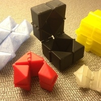 Small Print-In-Place Fidget Cube 3D Printing 65976