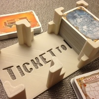 "Small ""Ticket to Ride"" card holder 3D Printing 65990"