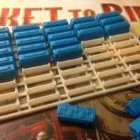 "Small ""Ticket to Ride"" trains tray 3D Printing 65993"