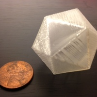 Small Tiny icosahedron surprise ball 3D Printing 66011