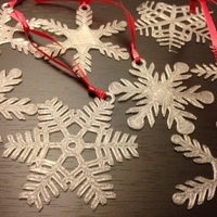 Small Snowflake Ornaments 3D Printing 66012