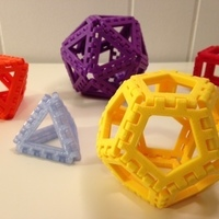 Small Polyhedra - Hinged Nets and Snap Tiles 3D Printing 66017