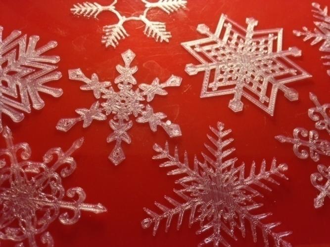 snowflakes 3d print 66023