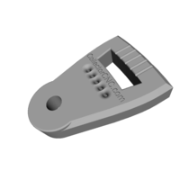 Small Banjo Tail Piece 3D Printing 66089
