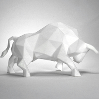 Small Low Poly Bull Art Sculpture 3D Printing 66105