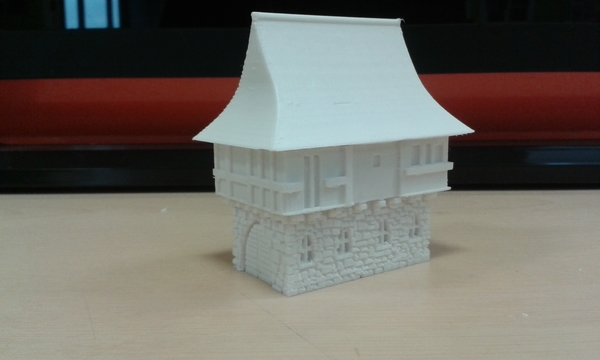 Medium Tudor style house for wargaming 3D Printing 66123