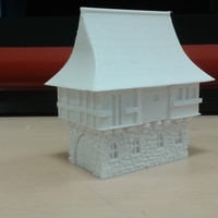 Small Tudor style house for wargaming 3D Printing 66123