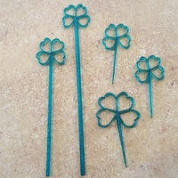 Small Lucky St. Patrick's Day Party Picks and Swizzle Sticks 3D Printing 66182