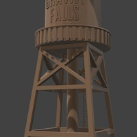 Small Gravity Falls: Water Tower 3D Printing 66190