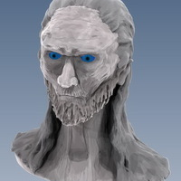Small White Walker bust. 3D Printing 66212