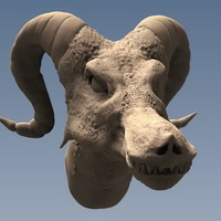 Small Dragon Head Bust 3D Printing 66239