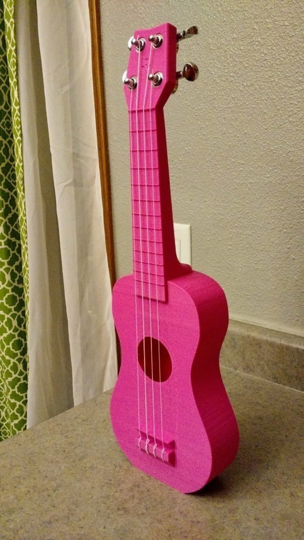 "Medium ""Nukulele"" Playable soprano Ukulele, sounds great printable with 3D Printing 66253"