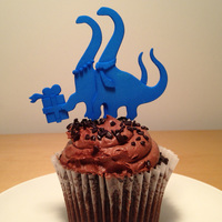 Small BRONTO-CAKE TOPPER 3D Printing 6630