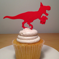 Small T Rex Cake Topper 3D Printing 6632