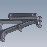 Small Angled Foregrip 3D Printing 66320