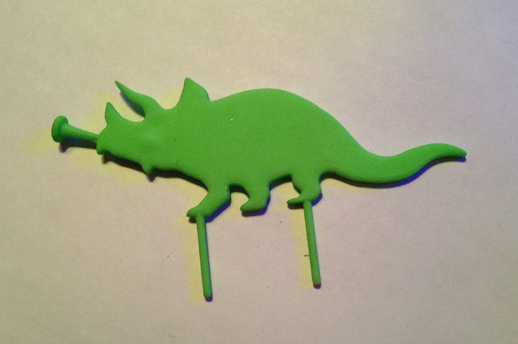 Triceratops Cake Topper 3D Print 6633