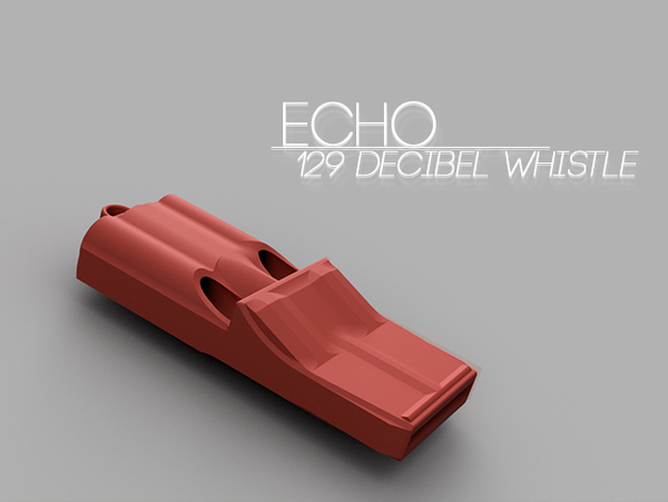 Medium Echo | 3 tone whistle 3D Printing 66333
